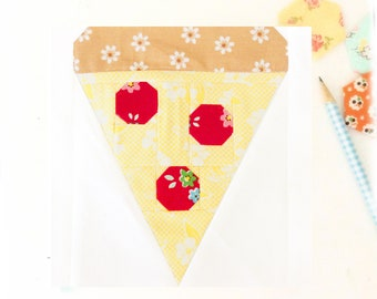 Pizza Slice Quilt Block PDF Instant Download Quilt Pattern 6 inch and 12 inch block instructions