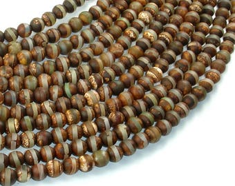 Tibetan Agate, 6mm(6.2mm) Round Beads, 14 Inch, Full strand, Approx 64 beads, Hole 1.2mm (122054262)