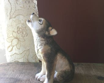 Vintage 1992 Lenox for the Smithsonian Institute Gray Wolf Pup- Endangered Animals/ Babies Figurine