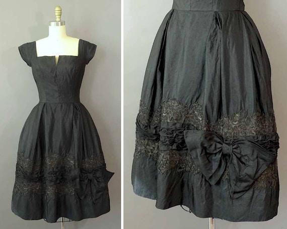 50er Jahre süßen Amsel Kleid 1950er Jahre schwarz Partei