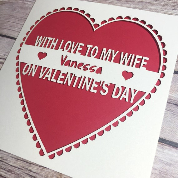 Wife Valentines Card Personalised Valentine Card