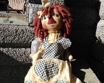 "Vintage Handmade Cloth Rag Doll 26"""