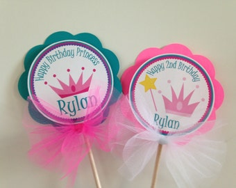 Princess Crown Centerpiece Sticks