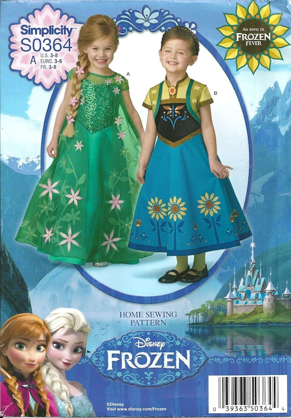 FROZEN FEVER PATTERN / Make Disney Princess Elsa and Anna Dresses ...