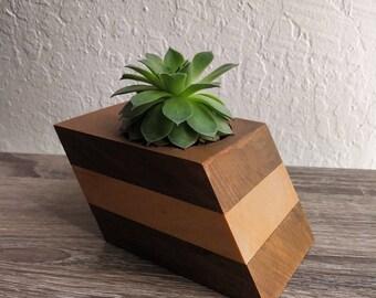 Handmade Wooden Planter Or Air Plant Holder