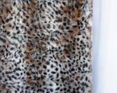 Thick faux fur leopard sp...
