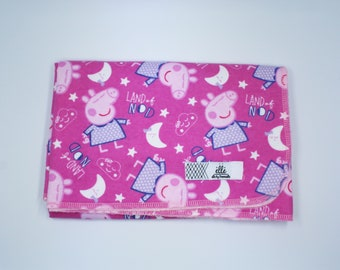"Peppa Pig Land of Nod Large Receiving Blanket - 34"" x 42"""