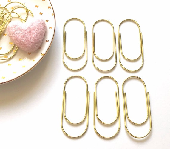 Wide Gold Paper Clips