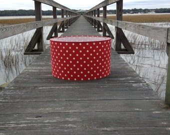 Polka dot lamp shade etsy aloadofball Choice Image