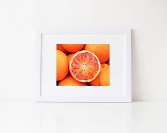 Oranges Summer Art, Kitchen Wall Art, Fruit Wall Art, Orange Wall Art, Food Photography Print, Food Wall Art, Food Photo, Kitchen Decor