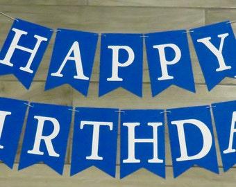Birthday Banner, Happy Birthday Banner, Custom Color Birthday Banner