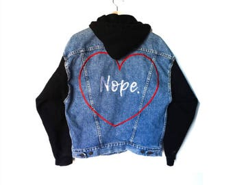 Women's limited edition embroidered denim jacket