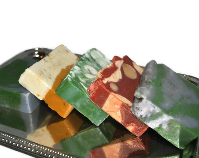 5 Bars of Soap-Handmade Soap Gift Set -Vanilla/Cranberry, Lime/Ginger, Lavender/Lime, Grapefruit/Orange, Lime/Tangerine Blowout Sale