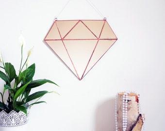 New! Diamond Mirror- Geometric Mirror- Wall Mirror