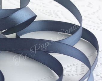 """Dusty Blue Ribbon, Pantone Serenity Blue, 3/8"""" wide by the yard, Gift Wrapping, Weddings, Sewing, Boutonnieres, Bouquets, Invitations"""