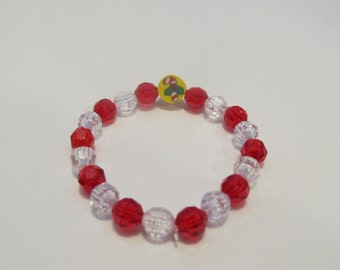 Candy Cane Beaded Bracelet-Stocking Stuffer-Christmas Gift-Gifts for Her-Gifts for Girls-Gifts for Kids-Bracelets for Girls-Girls Bracelets