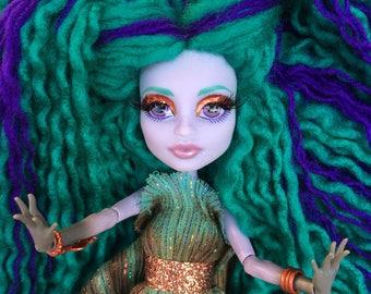 "Twila, Goddess of Nightmares - OOAK 12"" Collectible Doll Monster High"