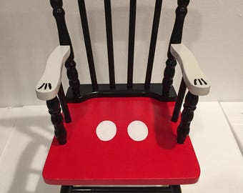 Mickey Mouse Rocking Chair - Mickey mouse kids - disney chair - Mickey Mouse furniture - mickey mouse nursery  - mickey mouse gift