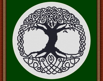 Celtic Tree Cross Stitch Pattern