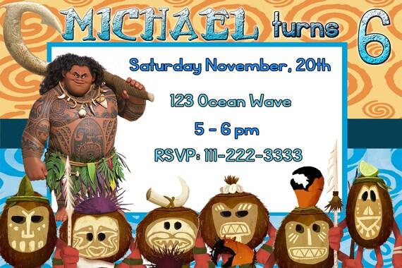 MAUI INVITATION MOANA Invitation Maui Invites Moana