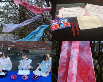 Kids' Dye Your Own Glue Resist Silk Scarf Kit, Ages 4+