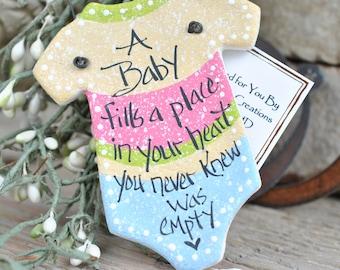 Baby Gift Shower Favor Salt Dough Ornament Package Decoration