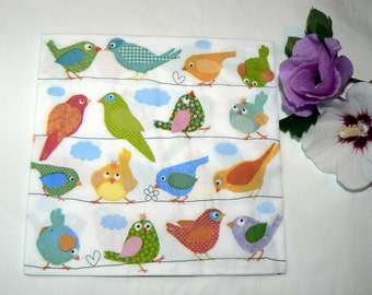 2 Napkins owls from Germany