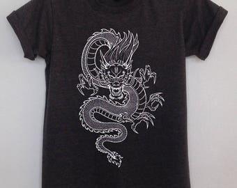 Dragon chinese charm t shirt womens and mens clothing dragon charm tee