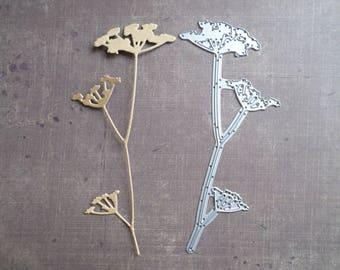 Great Nature Sizzix die stem flower field