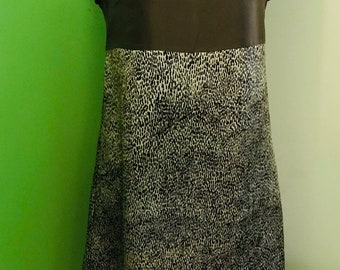 Sleeveless fancy silk  dress