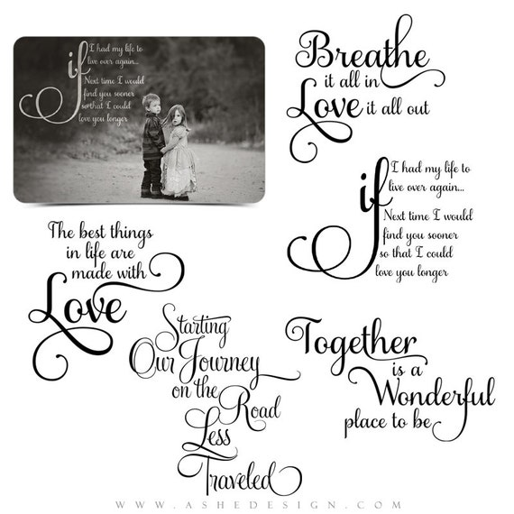 Love Word Art Quotes Photo Overlays For Scrapbooking   OUR JOURNEY   (5)  Custom Quotes For Your Photographs And Quick Pages. From Ashedesign On Etsy  Studio