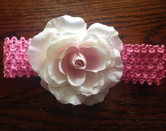 Baby/toddler Pink Flower Headband