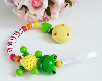 Custom made dummy clip, pacifier holder, diamond soother clip, bling dummy chain