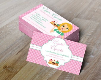 Bakery business card etsy diy do it yourself bakery chef business card design editable template microsoft word format solutioingenieria Choice Image