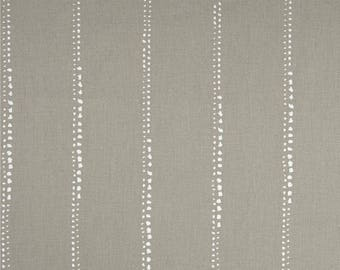 Tailored Valance, Carlo Cove Taupe Dotted Stripe, Lined