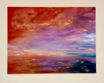 Sky View Oil Painting