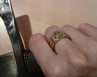 Engineering Viking Rune Bullet Ring
