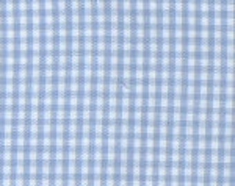 Fabric Finders Blue Gingham Fabric by the Yard, Check Fabric, Lightweight Fabric Yardage, Checked Fabric Fat Quarters