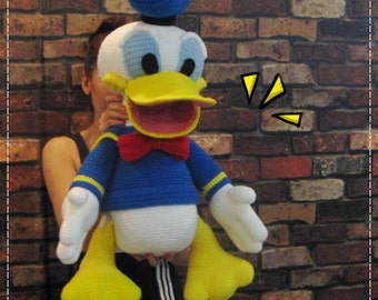 Giant Donald duck 30 inches - PDF amigurumi crochet pattern