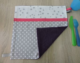 "reversible cotton Terry cloth towel table ""dots"""