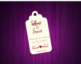 Love is Sweet Thank You Tags