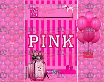 VS Pink Chip/Treat Bag, Candy Bar Wrapper, and 4x6 Combo .png  Format