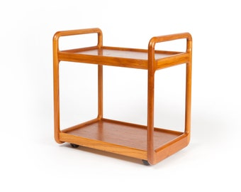 Vintage Teak Rolling Bevrage Cart