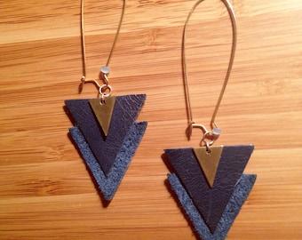 Bela - leather earrings