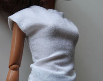 barbie clothes; white solid shirt