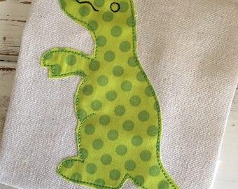 Dinosaur 3 Bean Stitch Applique Embroidery Design 4x4 5x7 6x10