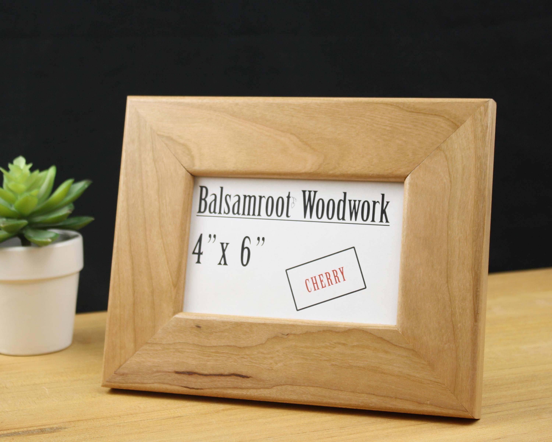 marco 4 x 6, marco de fotos madera cerezo, marco 4 x 6, marco de ...
