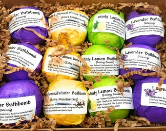 Mothers Day Gift Natural Bathbombs Gift Set Teacher Gift Relaxing Pampering Birthday Gift Bathbomb Gift for Mom Daughter Bestfriend Grandma