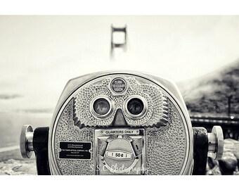 San Francisco photography. Black and white. fog. Golden Gate Bridge. Viewfinder. Travel photography. urban photography. California