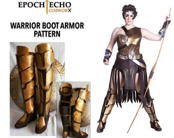 Amazon Warrior Boot Cover / Armor Pattern - Digital Download